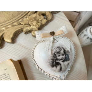 Елочная игрушка Ангельское сердце